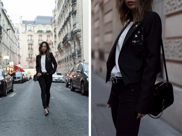 aimee_song_of_style_paris_fashion_week_saint_laurent_pants_saint_laurent_tshirt_ysl_bag_ysl_heels